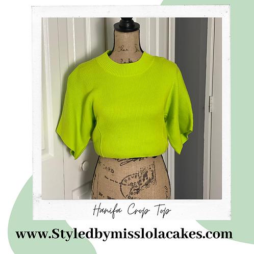Hanifa Lime Green Crop Top