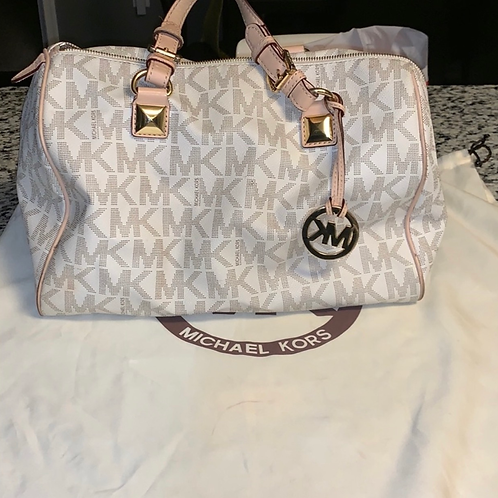 Micheal Kors White Large Grayson bag authentic