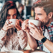 couple-relaxing-in-a-cafe-picture-id1134