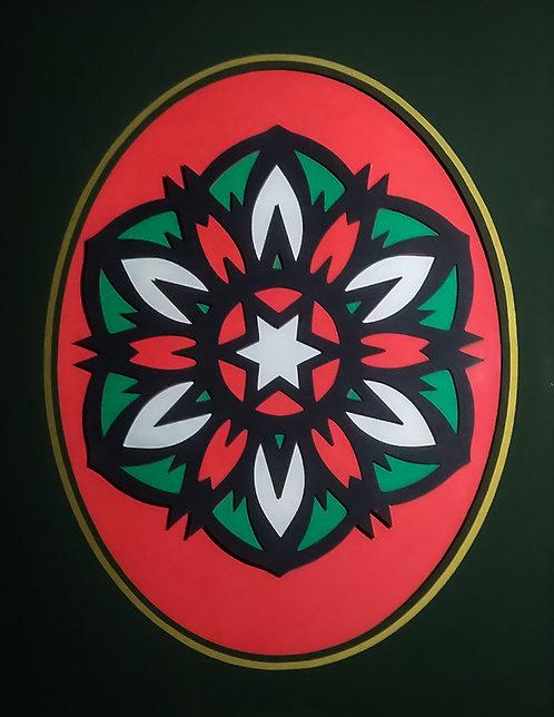 Star Flower in Reclaimed Frame