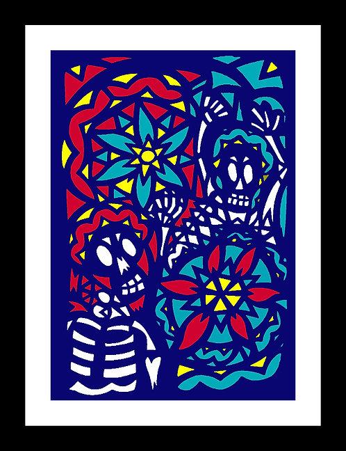 Death & Flowers Papercut