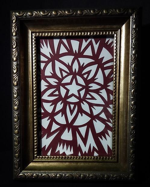 Star Burst Original Papercut (Framed)
