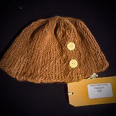 Caramel side ways hat (medium)