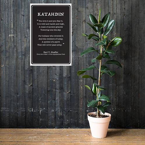 Life Members - Katahdin Poem Poster