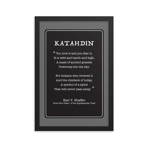 Life Members - Katahdin Poem - Framed poster