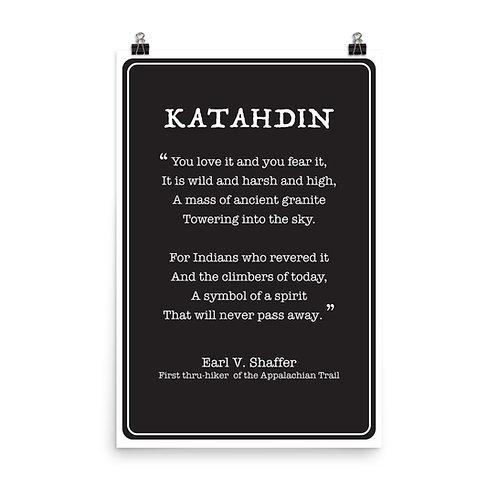 Katahdin Poem - Poster