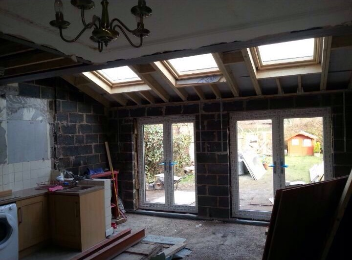 Extension interior – during