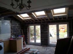 Extension interior – during