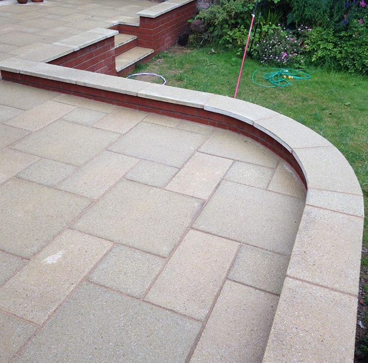 Patio area – complete