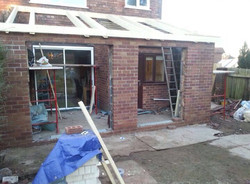 Extension exterior – during