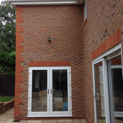 Double storey extension – brickwork