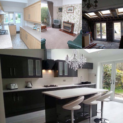 Before, during and complete - Kitchen knock through and extension