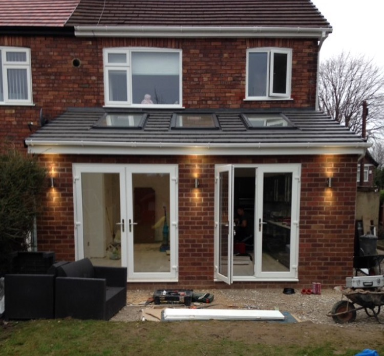 Extension exterior – near completion