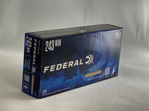 Federal Power Shok 243 - Pack of 20