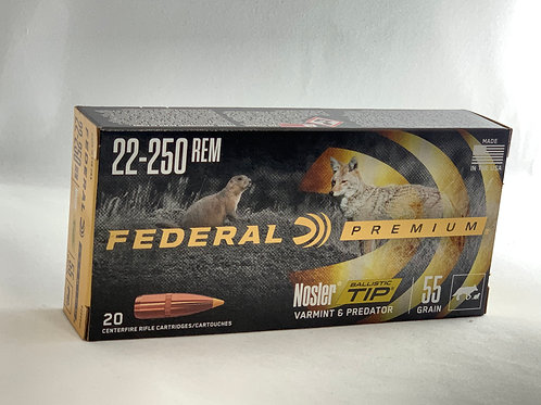 Federal Nosler BT 22/250 - Pack of 20