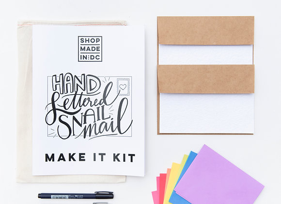 Make It! - Handlettering Kit / Shop Made in DC