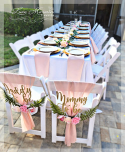 Blush Dressed Dinner Table