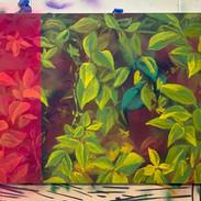 """30x40"""" Acrylic and Spray Paint on Canvas"""