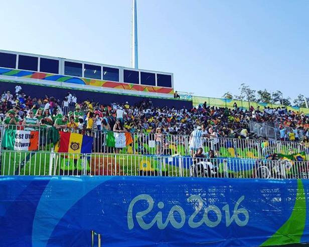 Packed stadium for our first game of the tournament vs Brazil