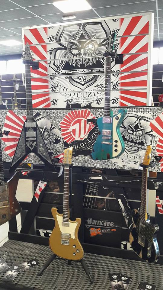 Wild Customs guitars in Hurricane Music