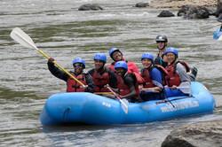 Samantha, Cameron, Larry, Cheryl, Alek, Aubra & Matthew rafting