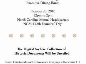 North Carolina Mutual Life Insurance Company Black Wall Street: Mutlimedia event