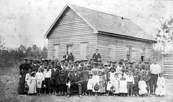 Columbus Co. school - Prof. John W. Jacobs & students in 1890
