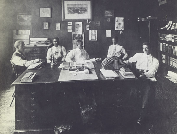 Officers of the North Carolina Mutual Life Insurance Company in 1911.