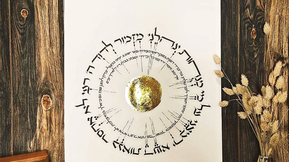 Tehillim 23 מִזְמור לְדָוִד