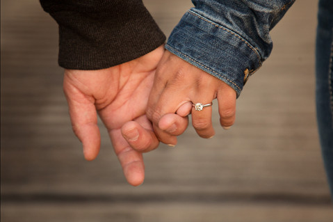 Engagment hand picture with ring