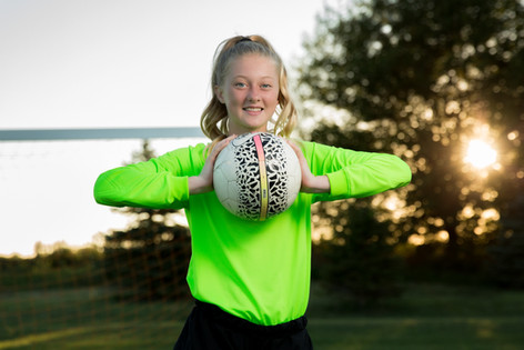 Senior soccer outdoor portraits