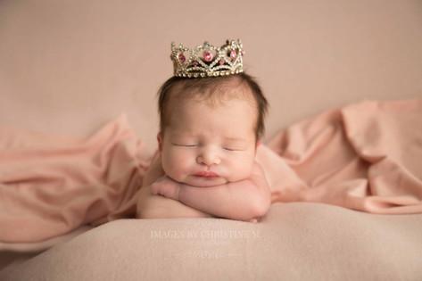 Newborn with crown