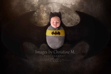 Newborn Batman baby