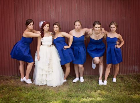 Bride and bridesmaids omaha