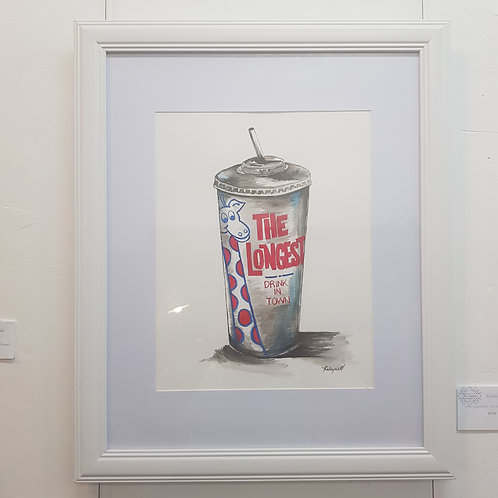 The Longest Drink in Town (Framed Original) - Kirsty Meynell