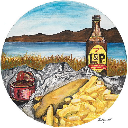 Fish and Chip Date Night - Kirsty Meynell Unframed Print