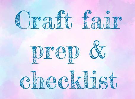 Craft Fair Prep and checklist