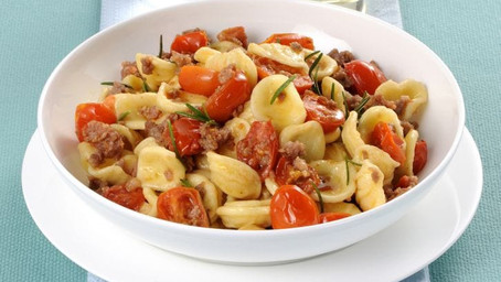 [Recette] Orecchiette à la tomate et à la salsiccia