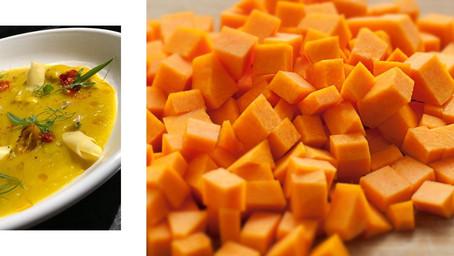 [Recette] Assiette de velouté de butternut à l'huile fruité noir