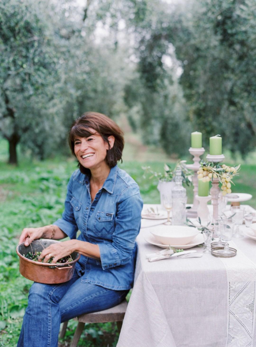 Marina Gioacchini, productrice des huiles Le Amantine, à Tuscania, dans le Latium (région de Rome).