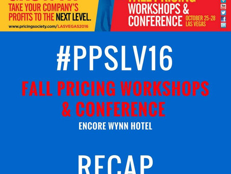 Fall Pricing Workshops & Conference RECAP - Las Vegas