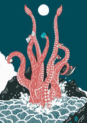 Multitasking kraken