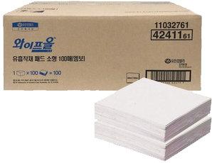 4241161 와이프올 유흡착재 패드 소형 100매