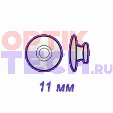 Носоупоры силиконовые на защелке (круглые), 11 мм, 10 пар.