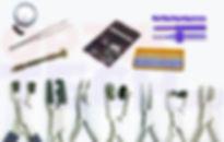 Инсруенты для ремонта и выправки очков