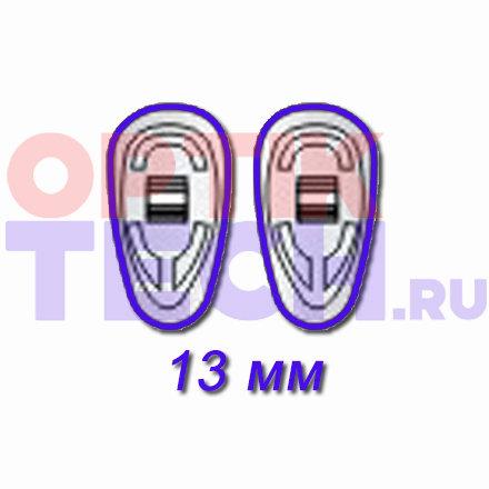 Носоупоры силиконовые на винтах (каплевидные), 13 мм, 10 пар