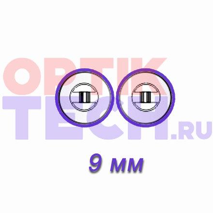 Носоупоры силиконовые на винтах (круглые), 9 мм, 10 пар.