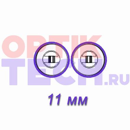 Носоупоры силиконовые на винтах (круглые), 11 мм, 10 пар.