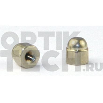 Гайка колпачок-шестигранник  1,2х,2,5 мм (серебро) 100 шт.