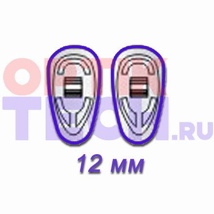 Носоупоры силиконовые на винтах (каплевидные), 12 мм, 10 пар